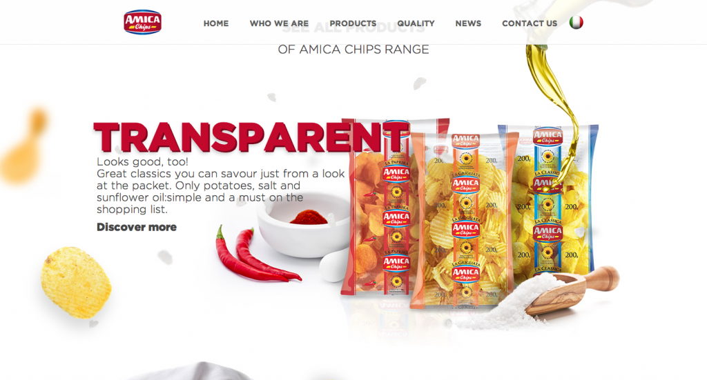 Amica Chips Web Design