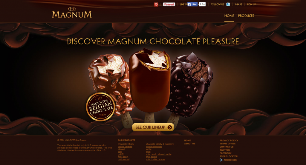Magnum Ice Cream   Belgian Chocolate Covered Ice Cream Bars