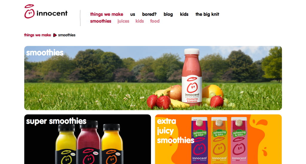 smoothies webdesign